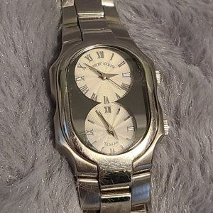 Phillip Stein Tesler Dual Time Stainless Watch